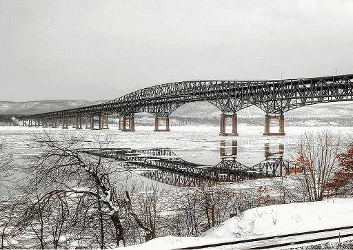 Newburgh Beacon Bridge Winter Scene